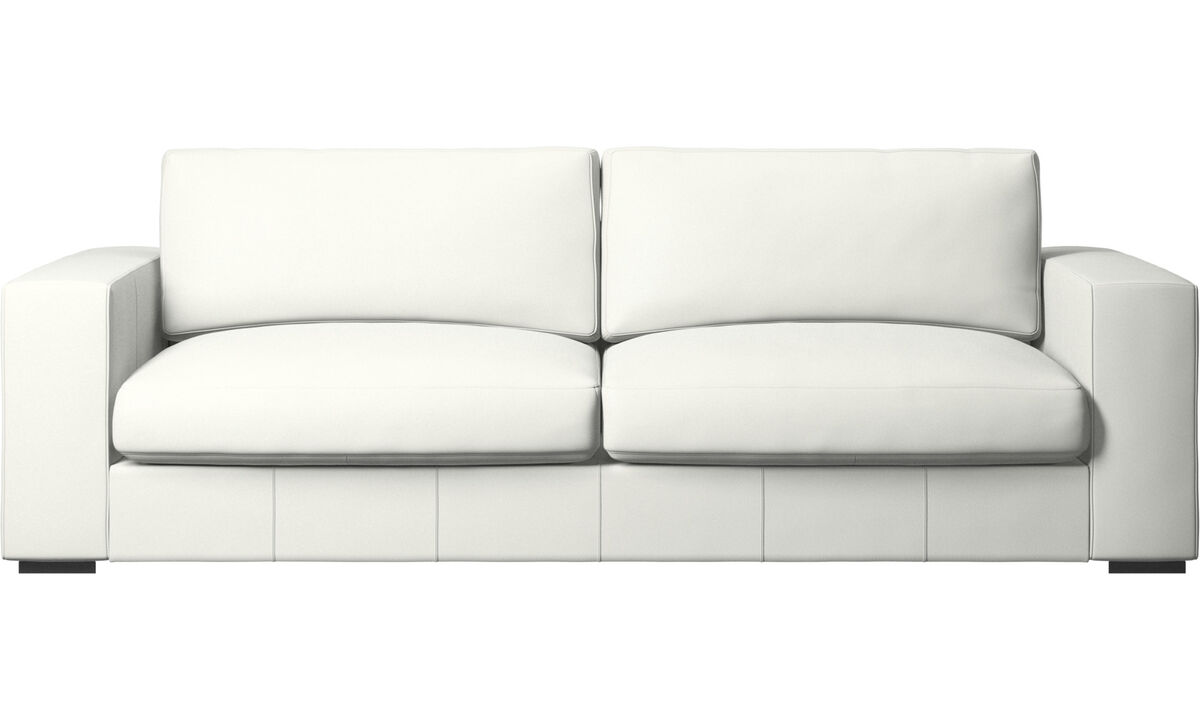 3 seater sofas - Cenova sofa - White - Leather