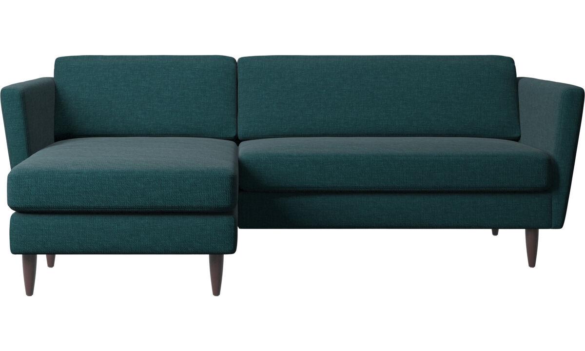 Chaise lounge sofas - Osaka sofa with resting unit, regular seat - Blue - Fabric