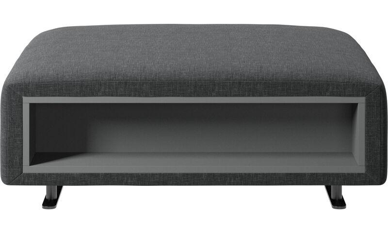 Pouf Contenitore Level Design.Footstools Pouf Hampton Con Contenitore Sul Lato Sinistro