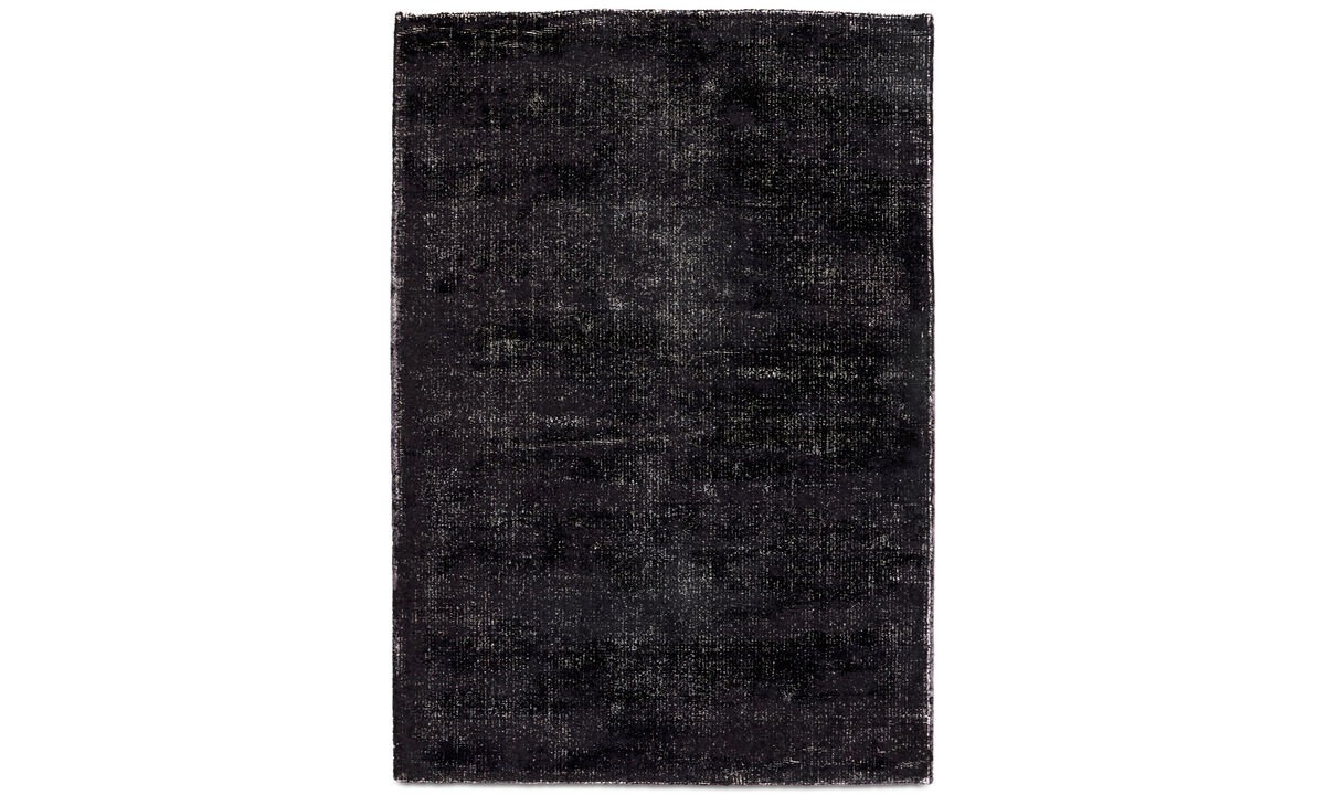 Alfombra rectangulares - Alfombra Simple - rectangular - En negro - Lana
