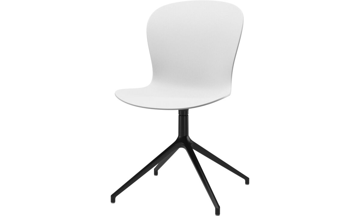 Dining chairs - Adelaide chair with swivel function - White - Plastic