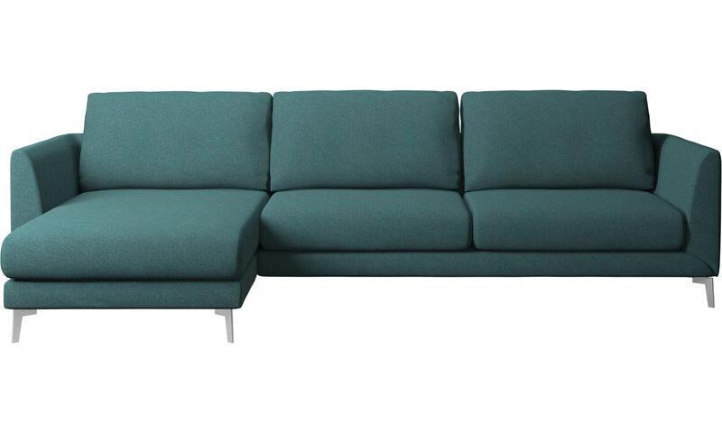 3241008687ef Καναπέδες με ανάκλινδρο - καναπές Fargo με μονάδα resting - Πράσινο -  Ύφασμα ...