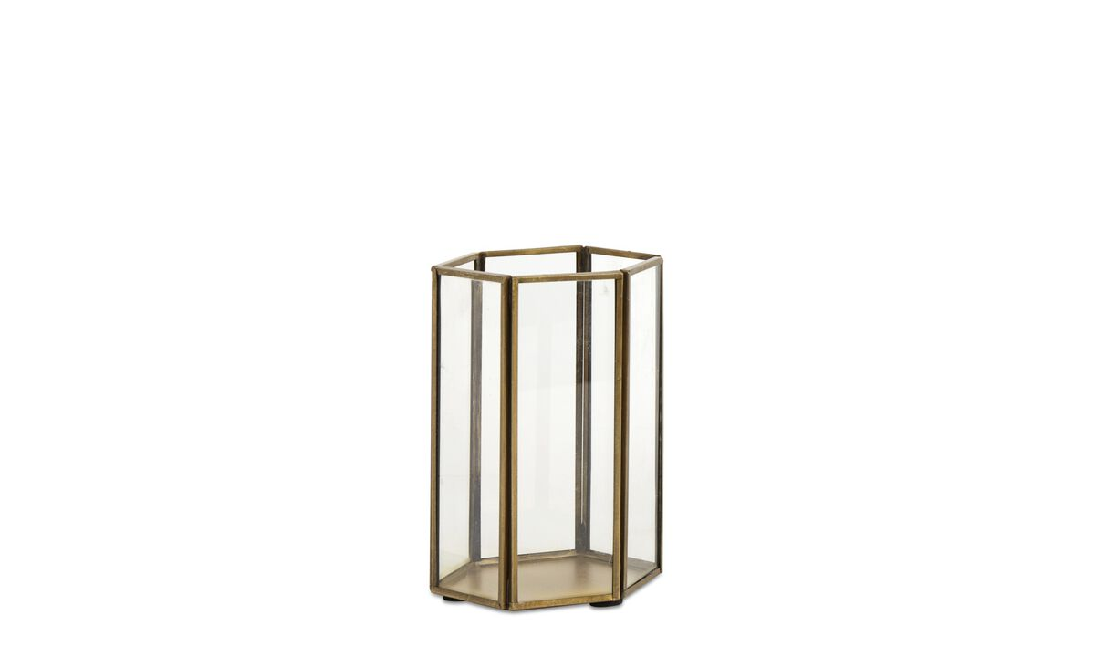 Candle holders - Hexagon lantern - Clear - Glass