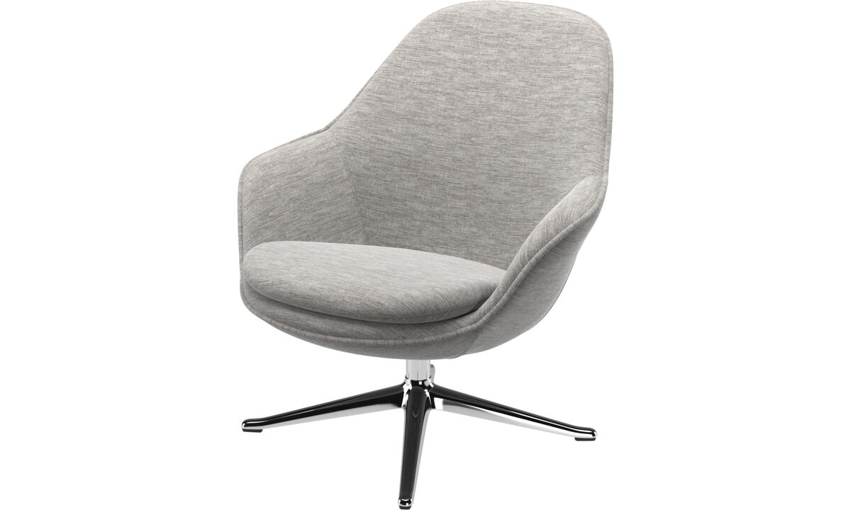 Armchairs - Adelaide living chair - Grey - Fabric