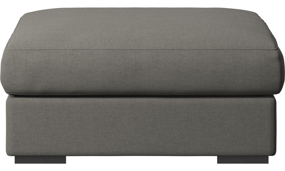Armchairs and footstools - Cenova footstool - Grey - Fabric