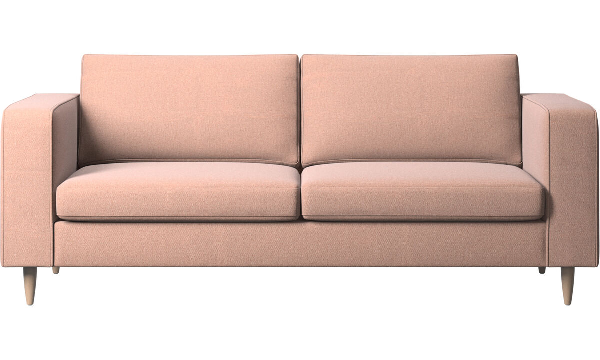2.5 seater sofas - Indivi 2 sofa - Red - Fabric