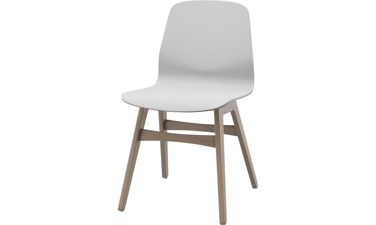 Dining chairs - London chair - White - Oak