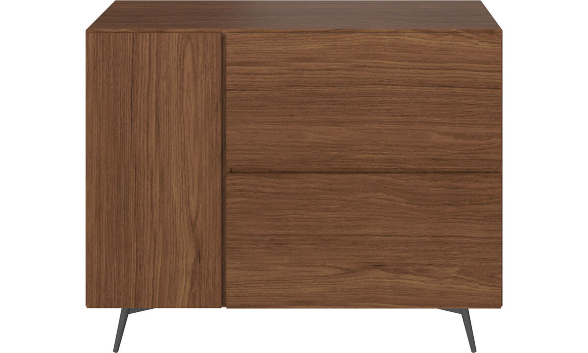 Sideboards - Lugano wall system with drawers - Brown - Walnut