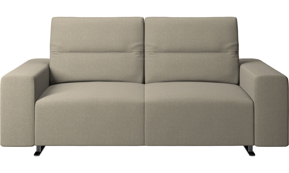 2 seater sofas - Hampton sofa with adjustable back - Beige - Fabric