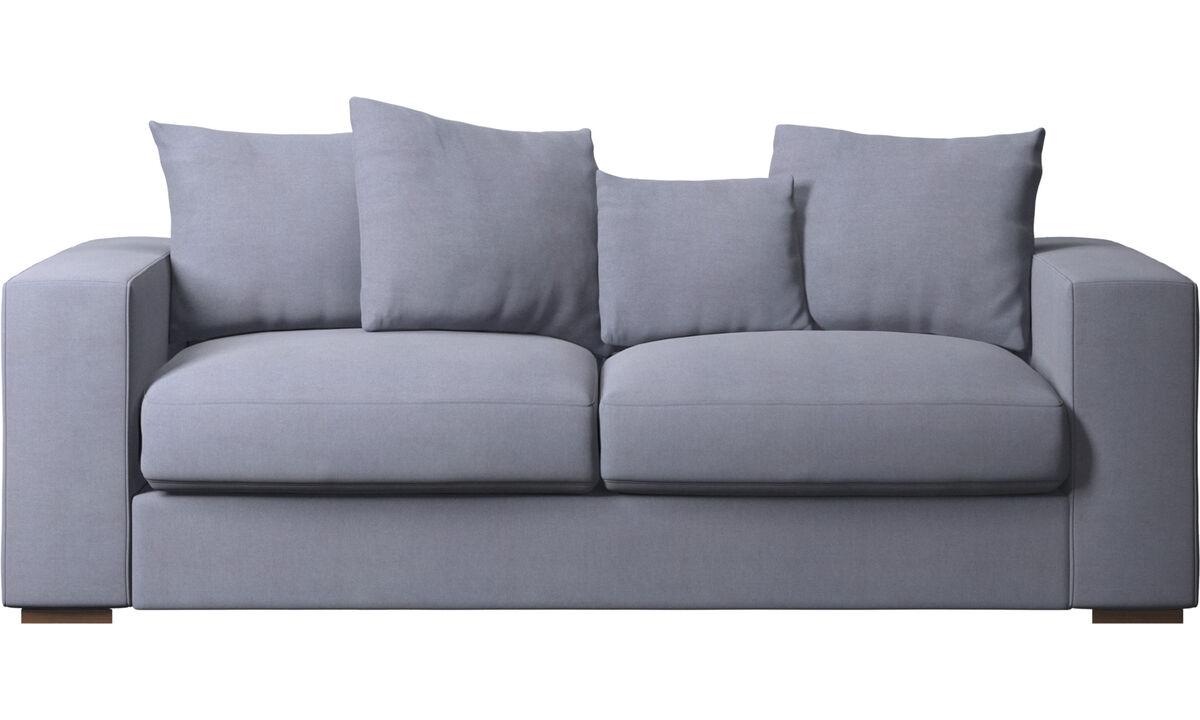 Canapés 2 places et demi - canapé Cenova - Bleu - Tissu