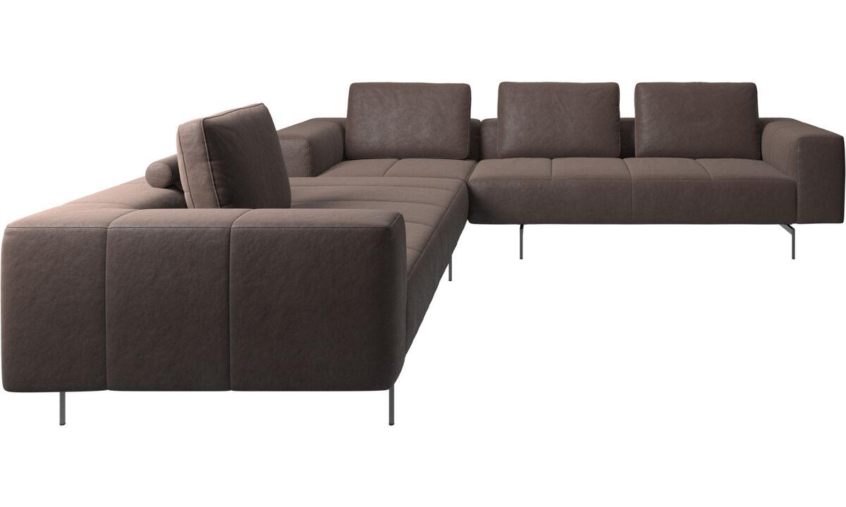 Modular sofas - Amsterdam corner sofa - Brown - Leather