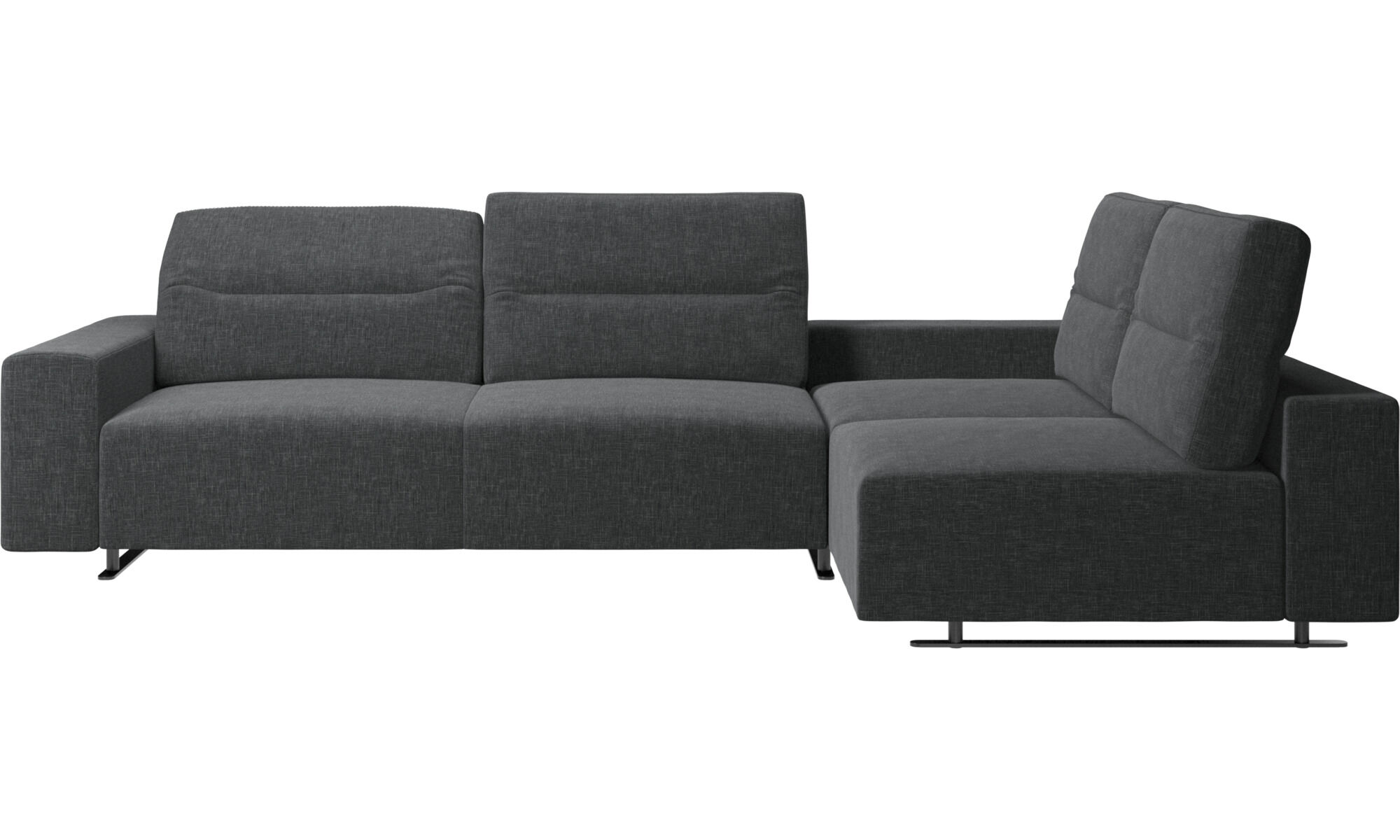 Corner Sofas   Hampton Corner Sofa With Adjustable Back And Storage On Left  Side   Gray ...