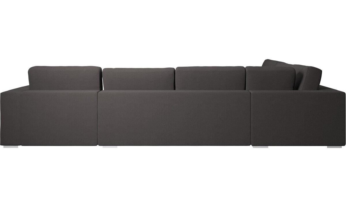 Corner sofas - Cenova corner sofa with resting unit - Grey - Fabric