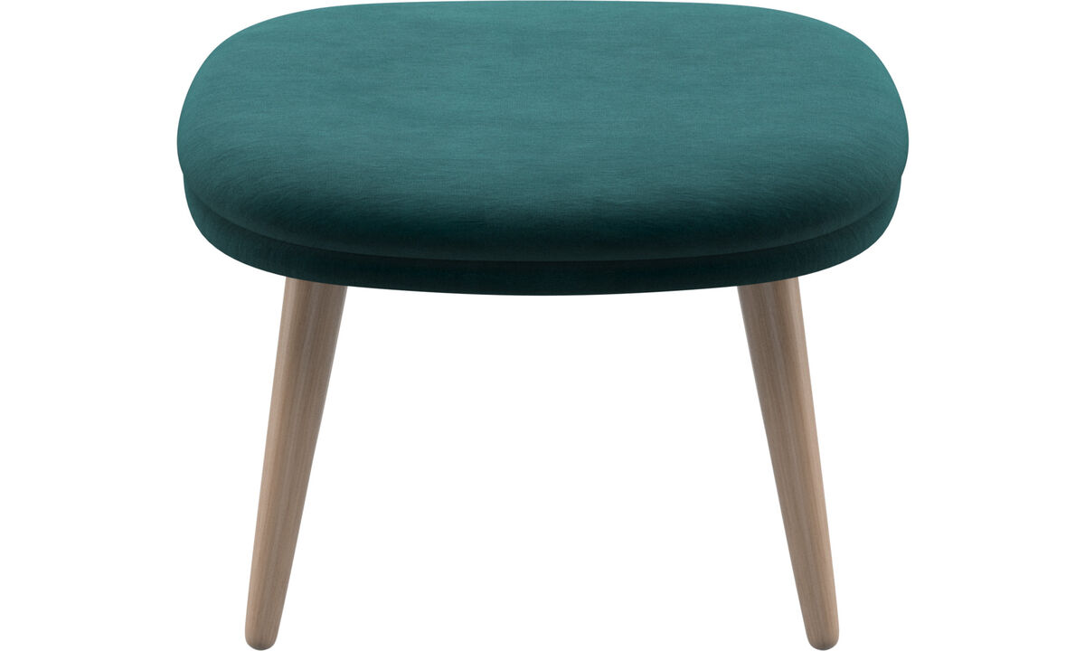 Footstools - Adelaide footstool - Blue - Fabric