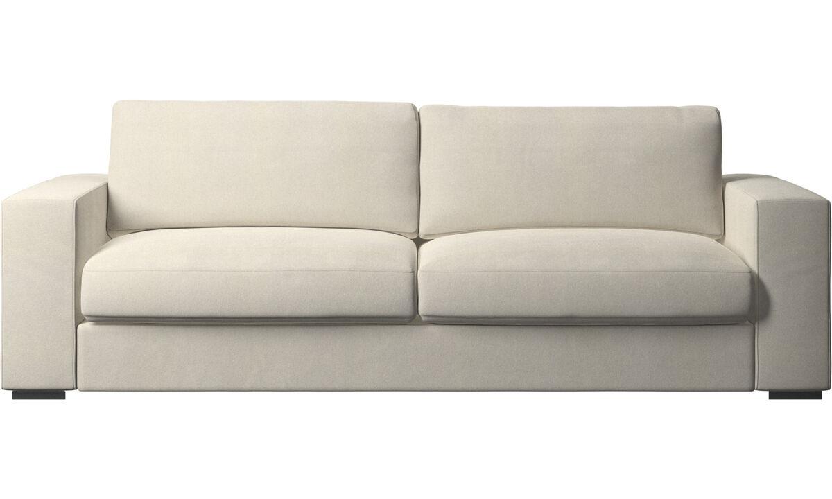 3 seater sofas - Cenova sofa - White - Fabric