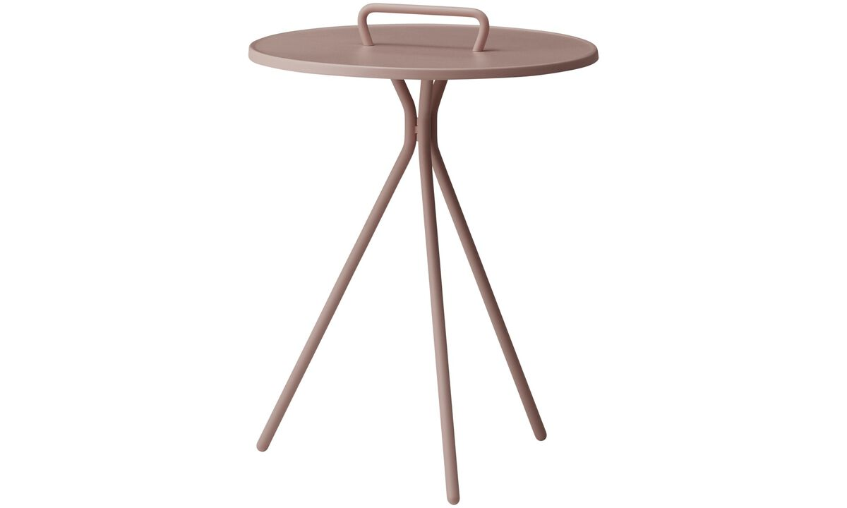Coffee tables - Jersey side table (for in and outdoor use) - round - Red - Lacquered