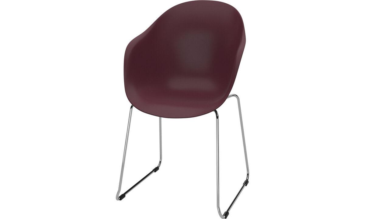 Cadeiras de jantar - Cadeira Adelaide - Vermelho - Plástico