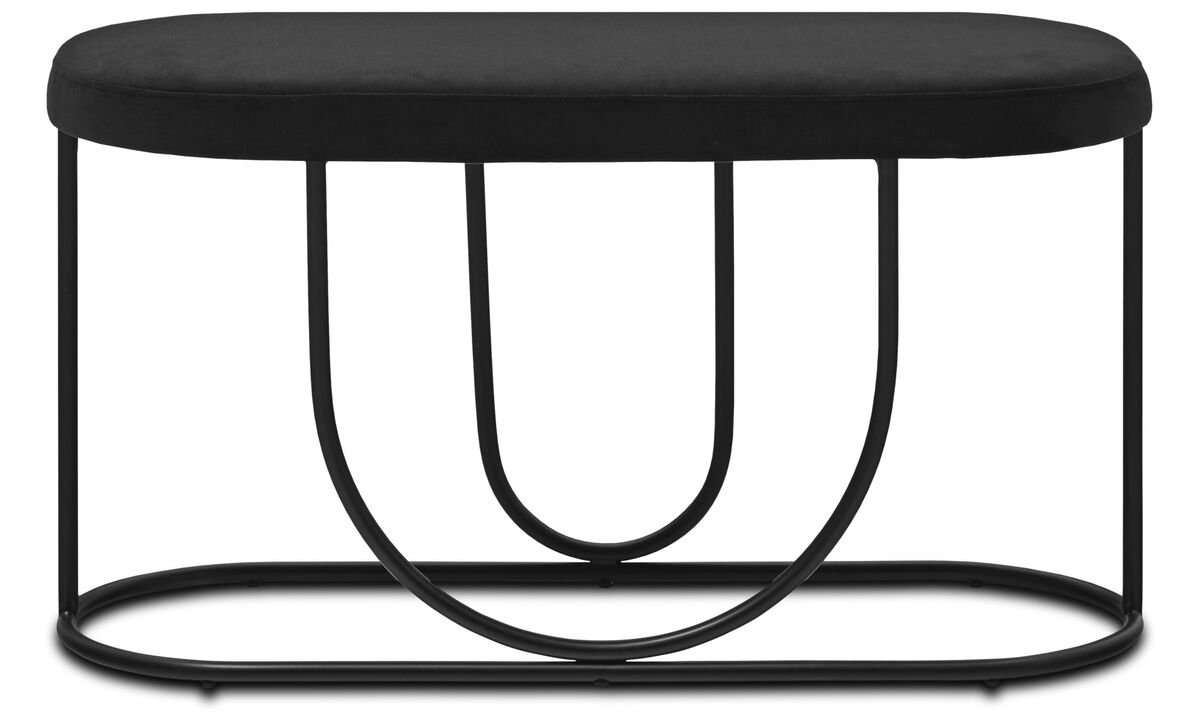Benches - Aisle bench - Black - Metal