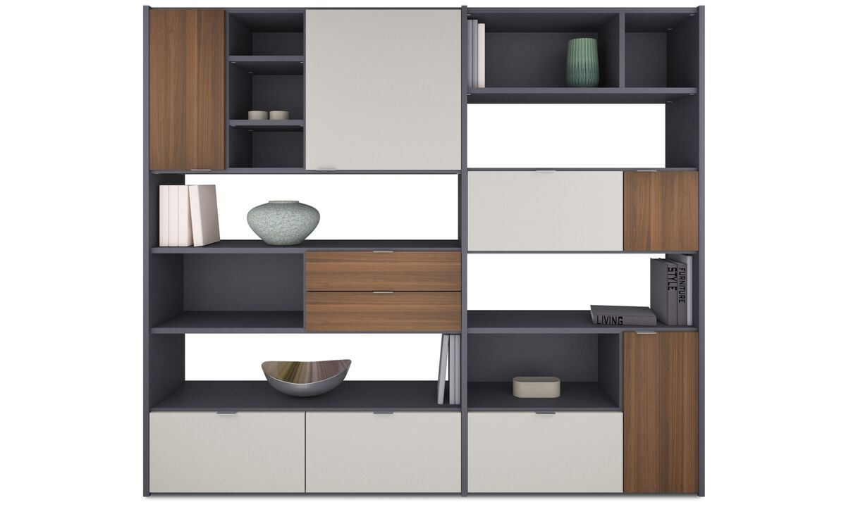 New designs - Copenhagen wall system - Gray - Lacquered