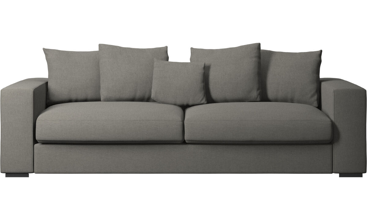 3 seater sofas - Cenova sofa - Grey - Fabric