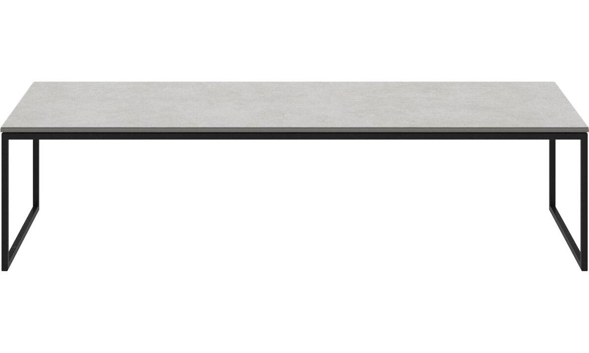 Tables basses - table basse Lugo - carré - Gris - Céramique