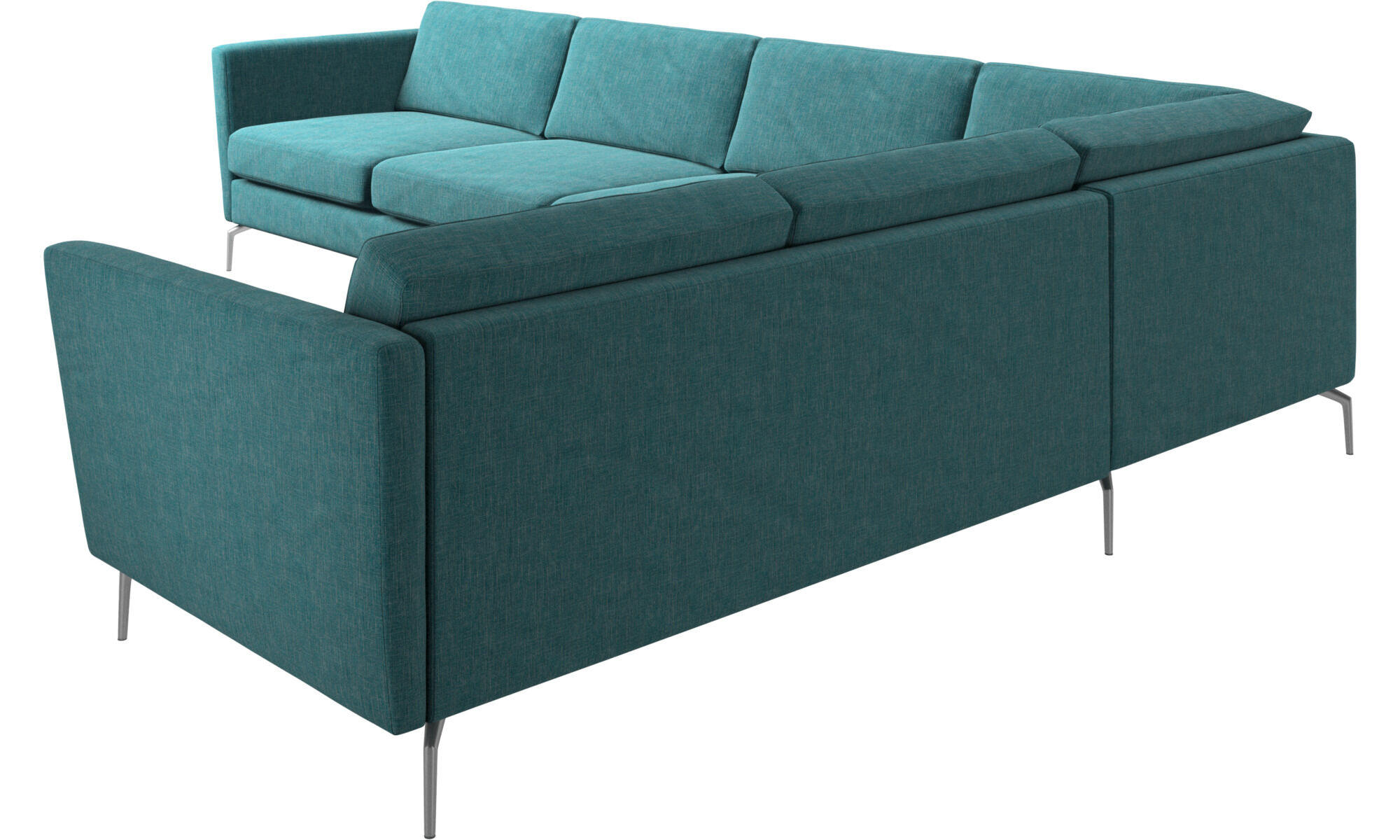 ... Corner Sofas   Osaka Corner Sofa, Regular Seat   Blue   Fabric ...