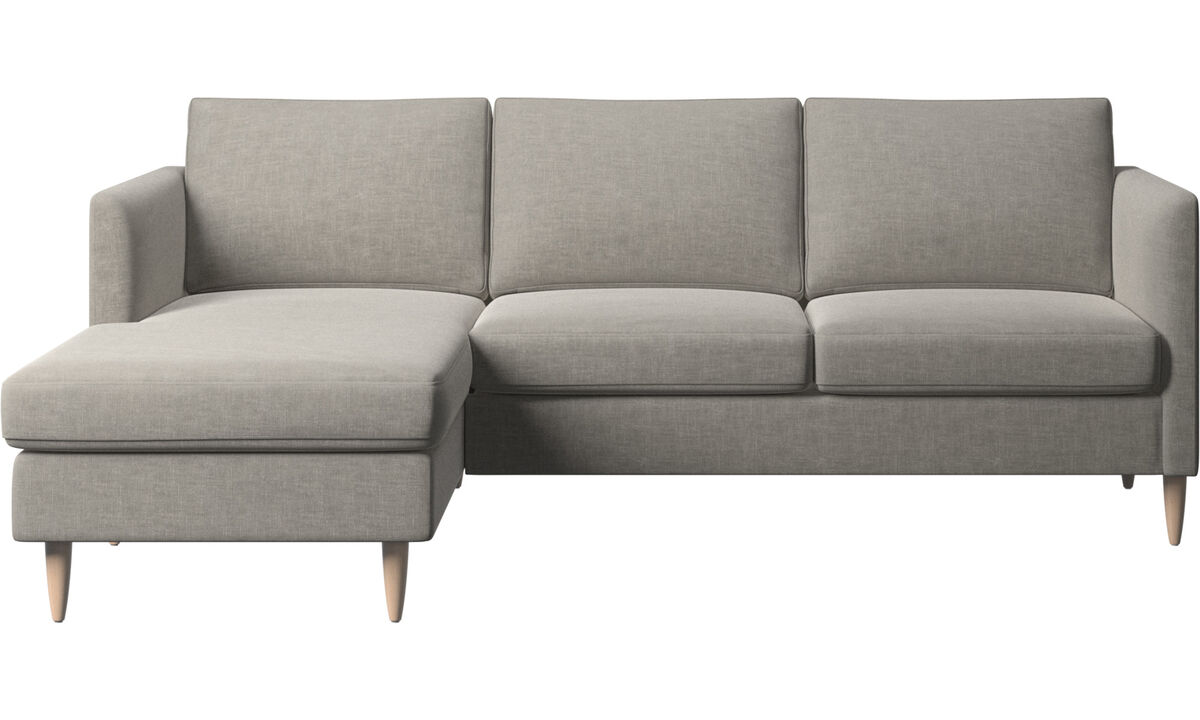 Chaise lounge sofas - Indivi sofa with resting unit - Grey - Fabric