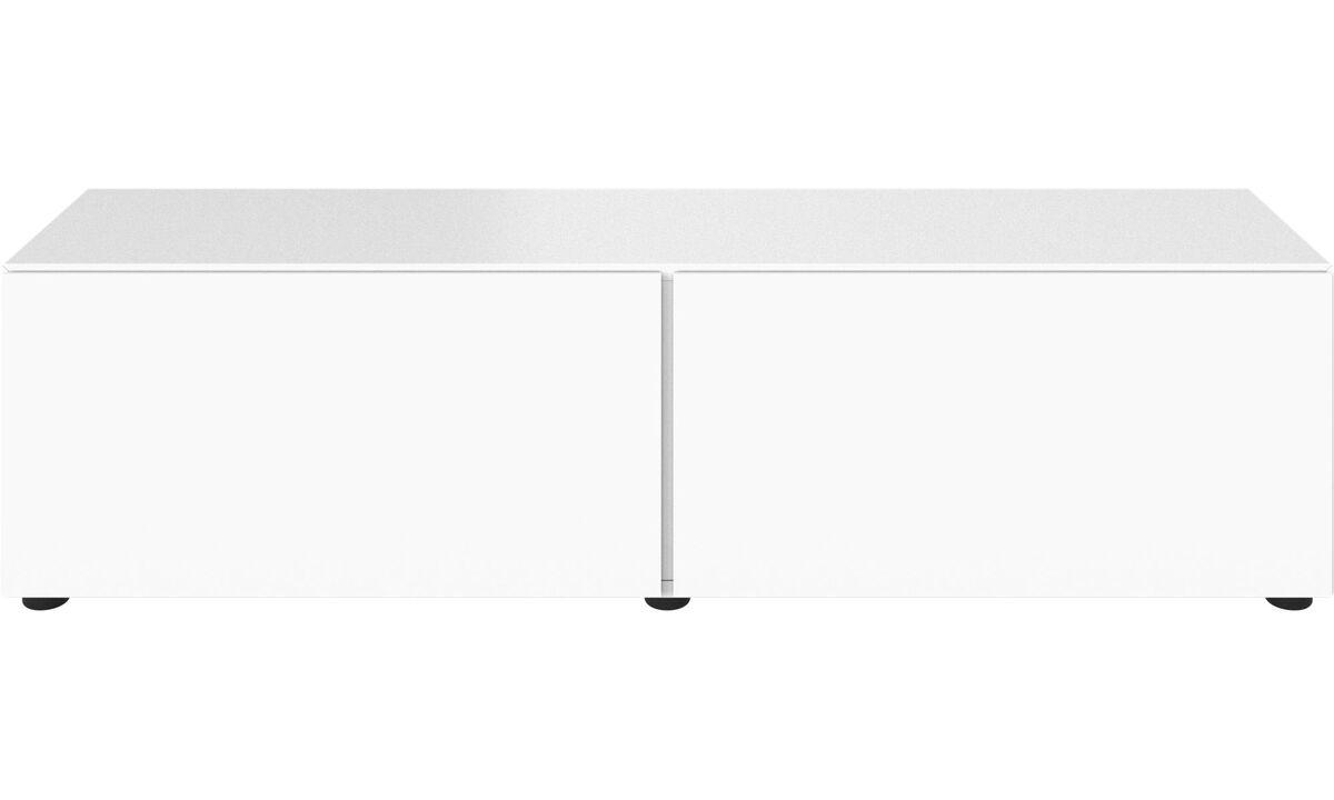 Tv-møbler - Lugano underskab med drop-down låger - Lakeret