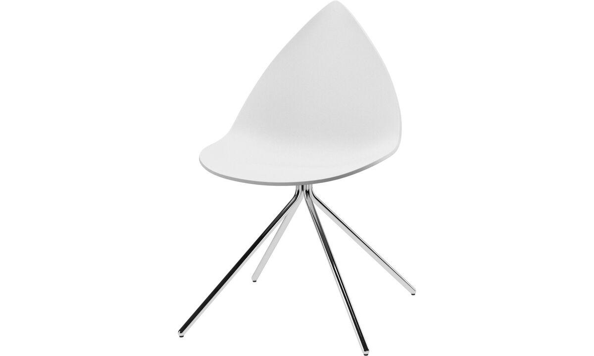 Dining chairs - Ottawa chair - White - Metal