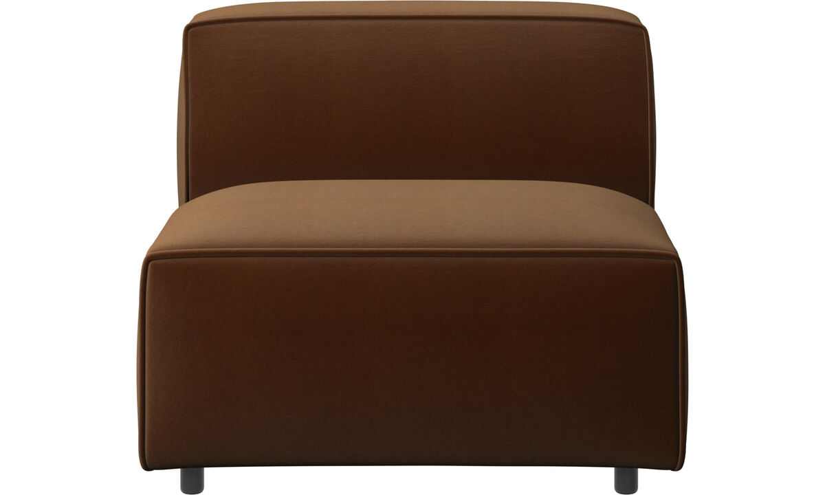 Modular sofas - Carmo chair/basic unit - Brown - Fabric