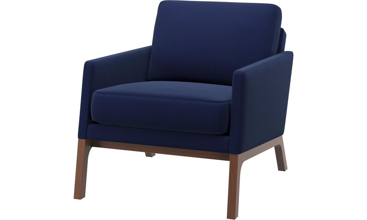 Armchairs - Monte chair - Blue - Fabric