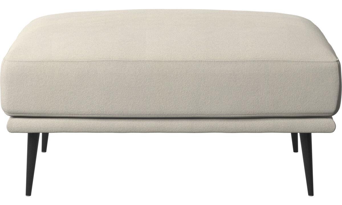 Footstools - Carlton footstool - White - Fabric