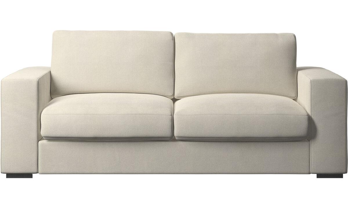 2.5 seater sofas - Cenova sofa - White - Fabric