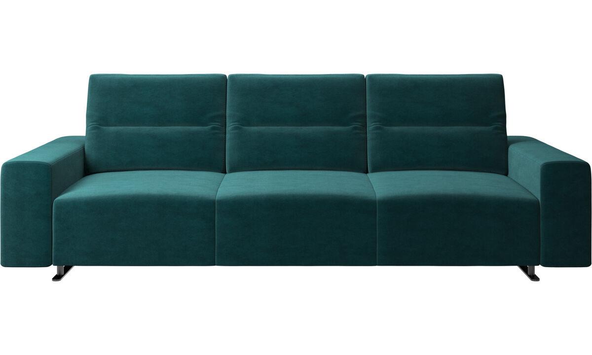 3 seater sofas - Hampton sofa with adjustable back - Blue - Fabric