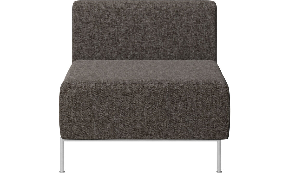 Armchairs - Miami seat with back - Brown - Fabric