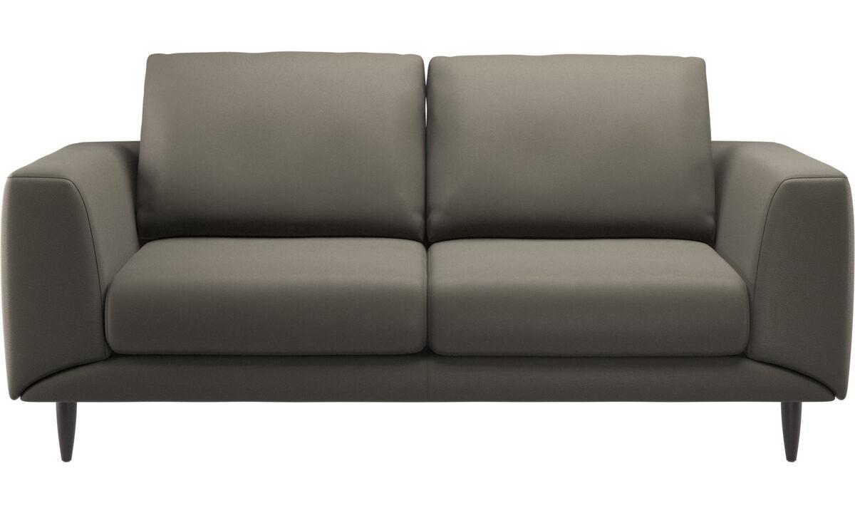 2-sitzer Sofas - Fargo Sofa - Grau - Leder