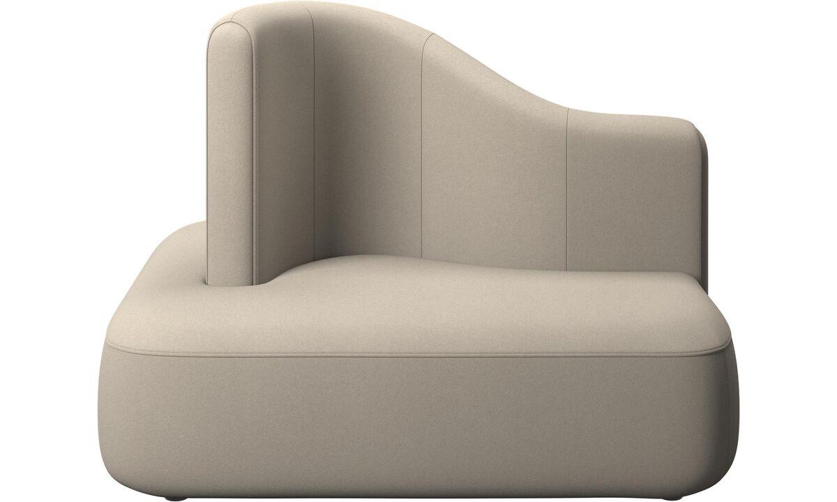 Modulárne sedačky - štvorcový modul Ottawa s  vysokou opierkou - Béžová - Látka