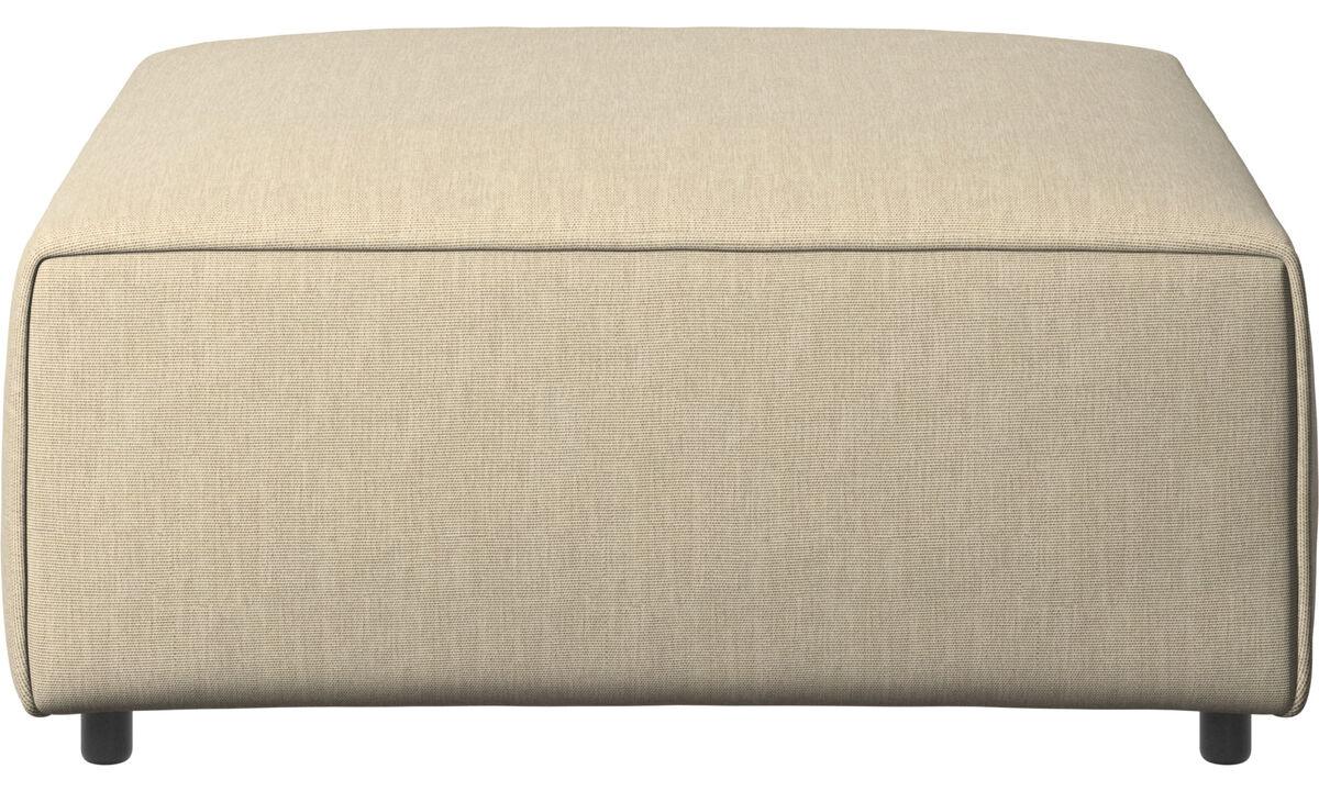 Ottomans - Carmo ottoman - Brown - Fabric