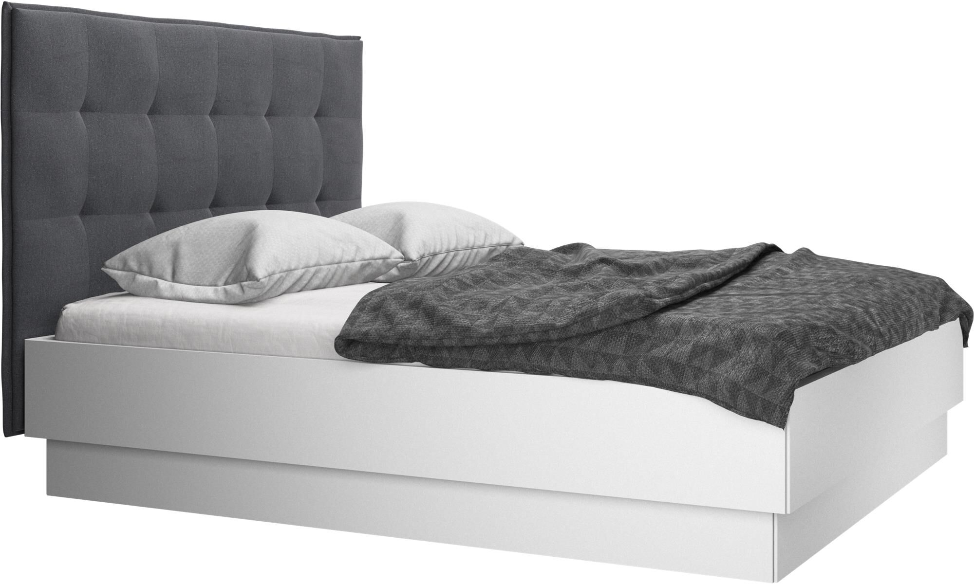 beds lugano storage bed with liftup frame and slats excl mattress