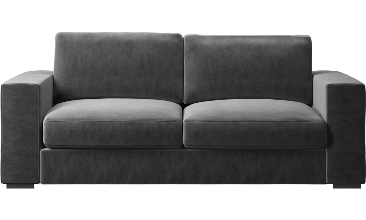 2.5 seater sofas - Cenova sofa - Gray - Fabric