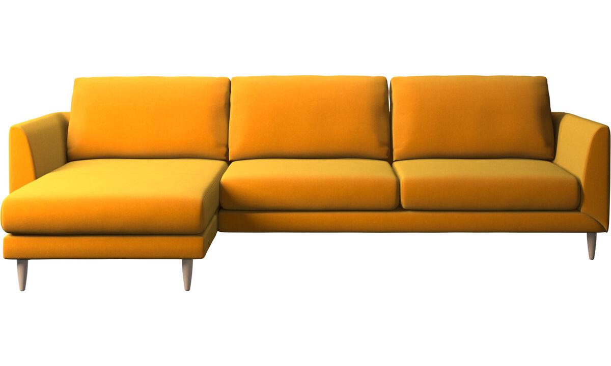 Sofás con chaise longue - sofá Fargo con módulo chaise-longue - Naranja - Tela