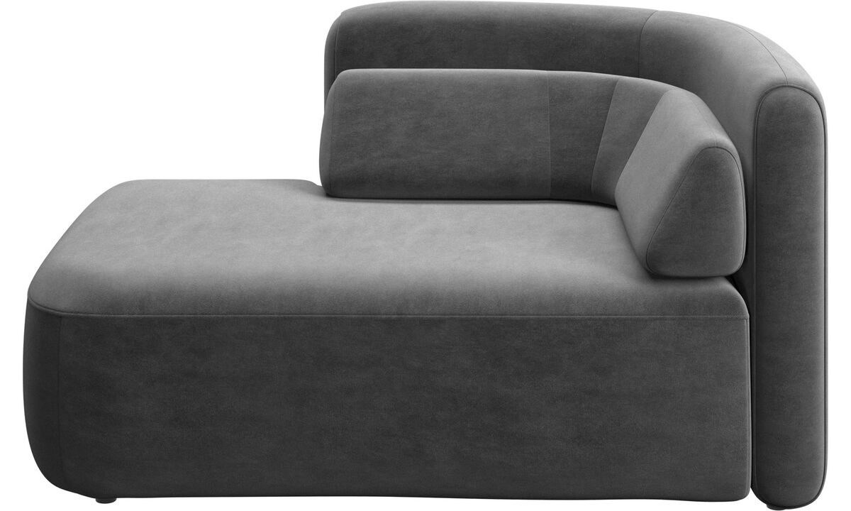 New designs - Ottawa 1.5 seater open end left side - Gray - Fabric