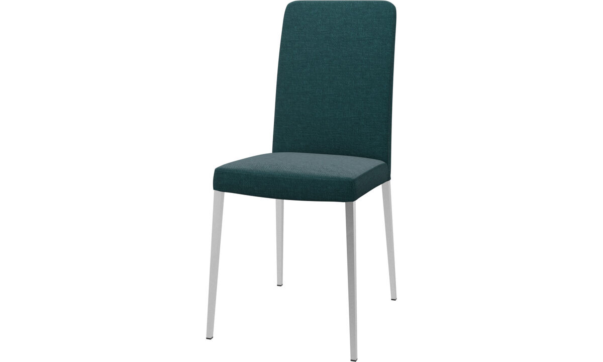 Dining chairs - Nico chair - Blue - Fabric