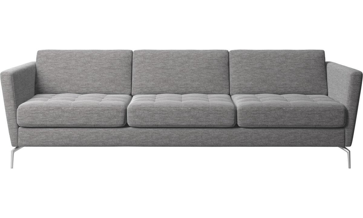 3 seater sofas - Osaka sofa, tufted seat - Grey - Fabric