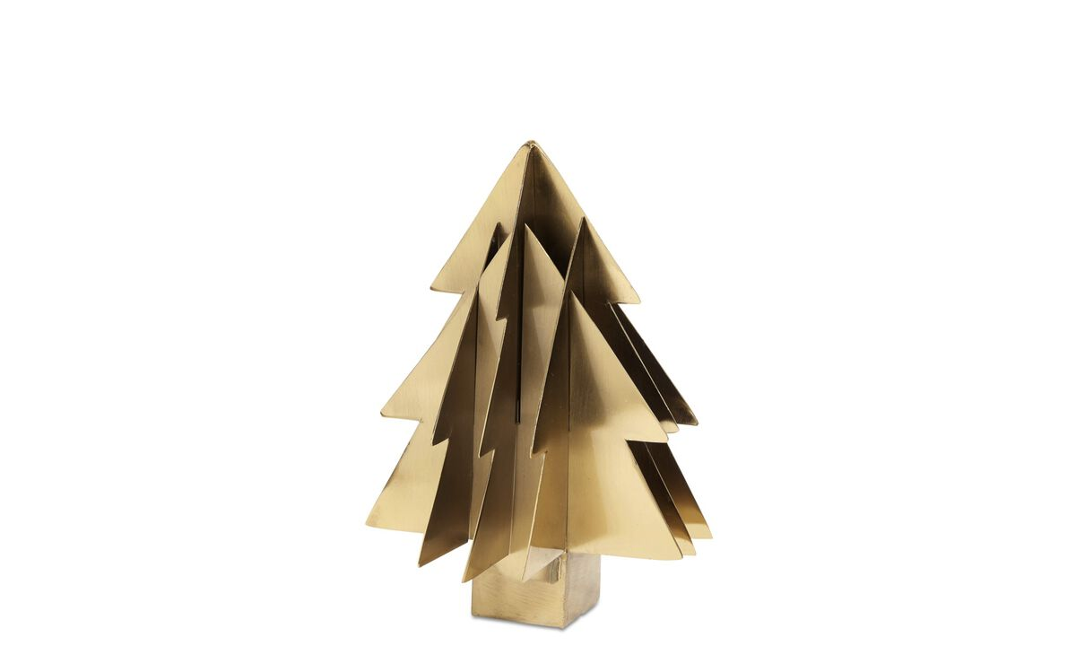 Christmas accessories - Christmas Tree sculpture - Yellow - Metal