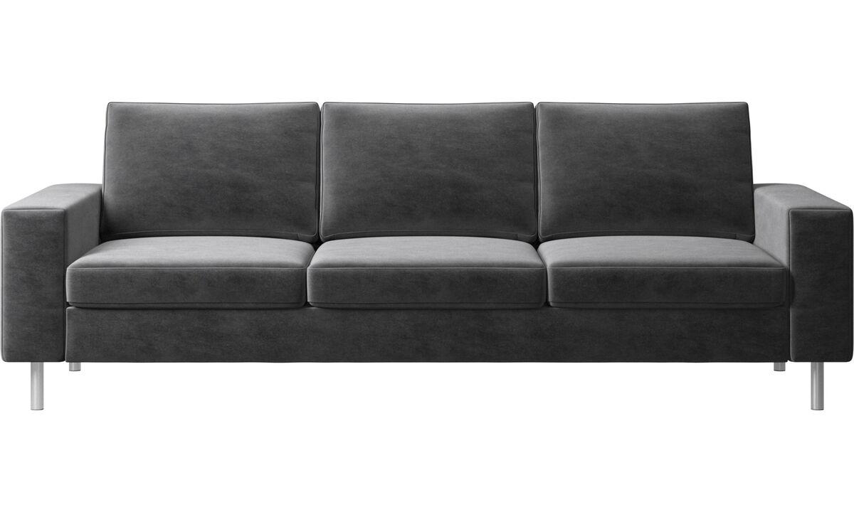 3-sitzer Sofas - Indivi 2 Sofa - Grau - Stoff