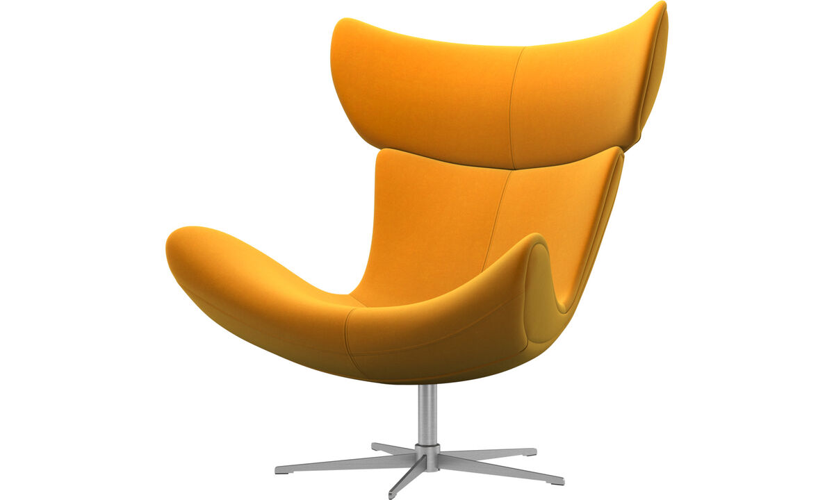 Armchairs - Imola chair with swivel function - Orange - Fabric