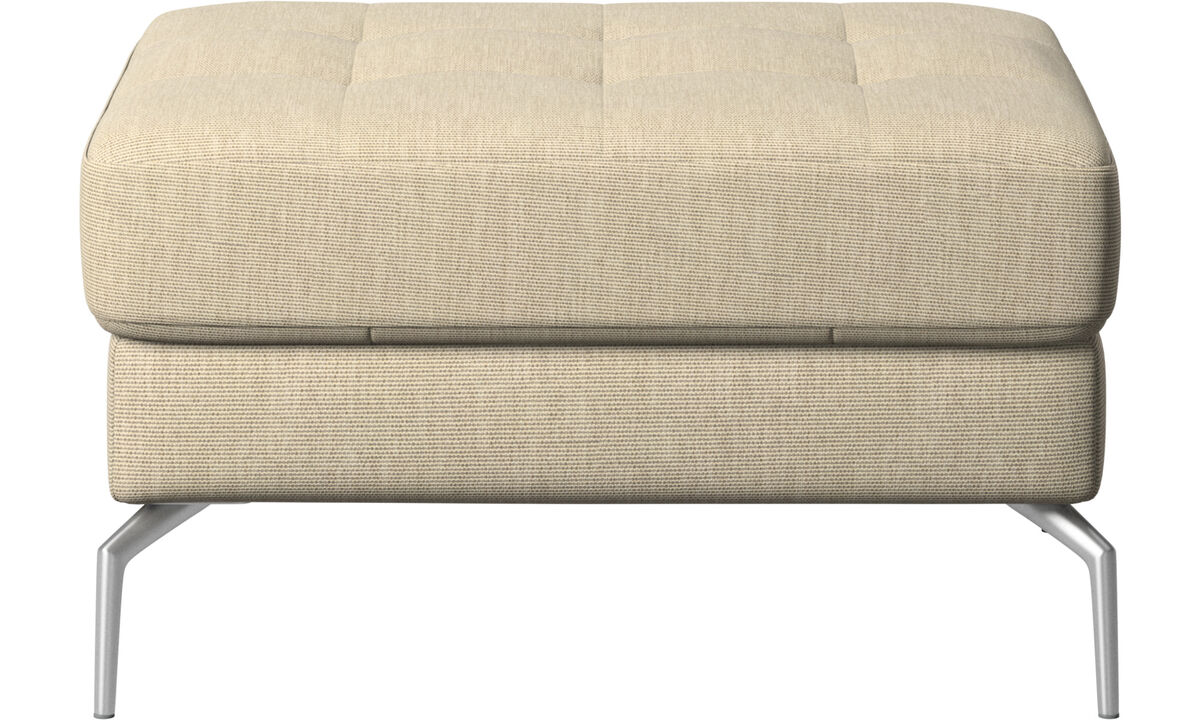 Footstools - Osaka footstool, tufted seat - Brown - Fabric