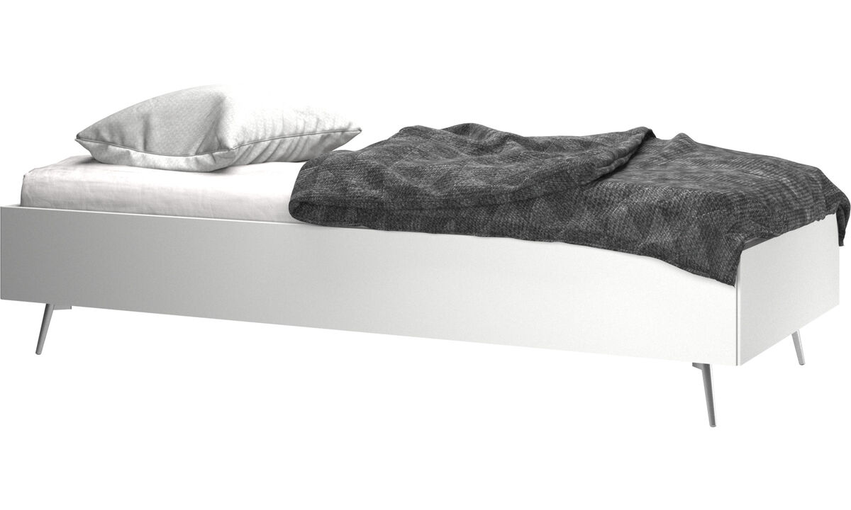 Beds - Lugano bed, excl. mattress - White - Lacquered
