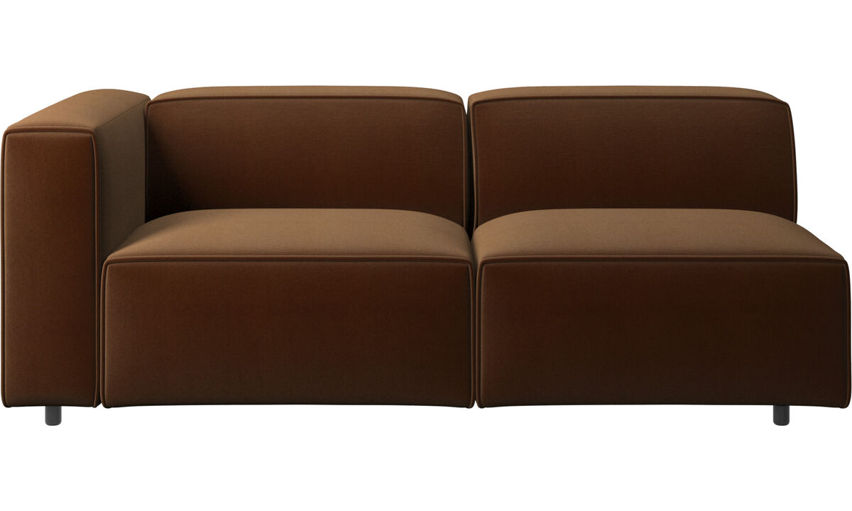 2.5 seater sofas - Carmo sofa - Brown - Fabric